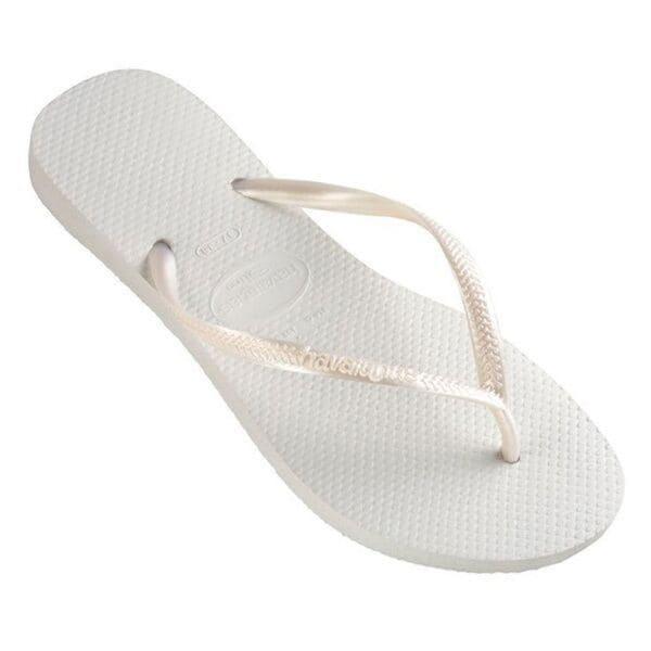 Havaianas Women's White Rubber Regular Flip-flop Sandals