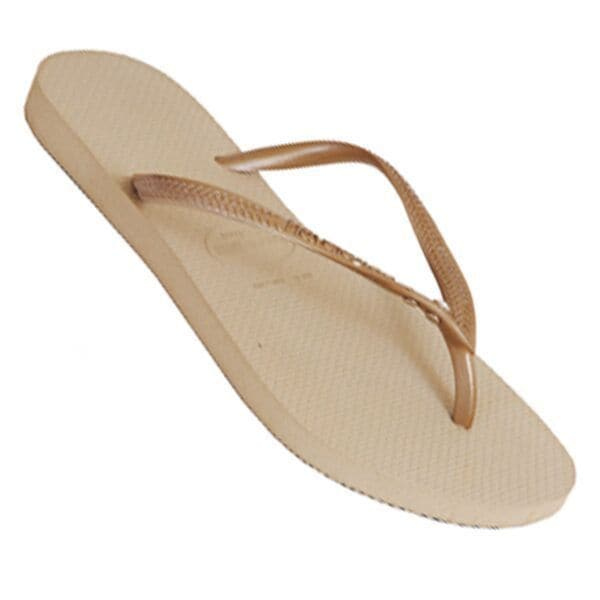 Havaianas Women's Gold Rubber Regular Flip-flop Sandals