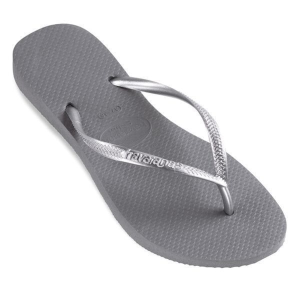 Havaianas Women's Grey Rubber Regular Flip-flop Sandals