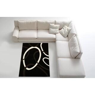 Contemporary Black Area Rug (8' x 11')