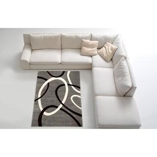 Contemporary Grey Area Rug (8' x 11')