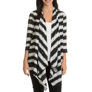 Sunny Leigh Women's Printed Open Cardigan