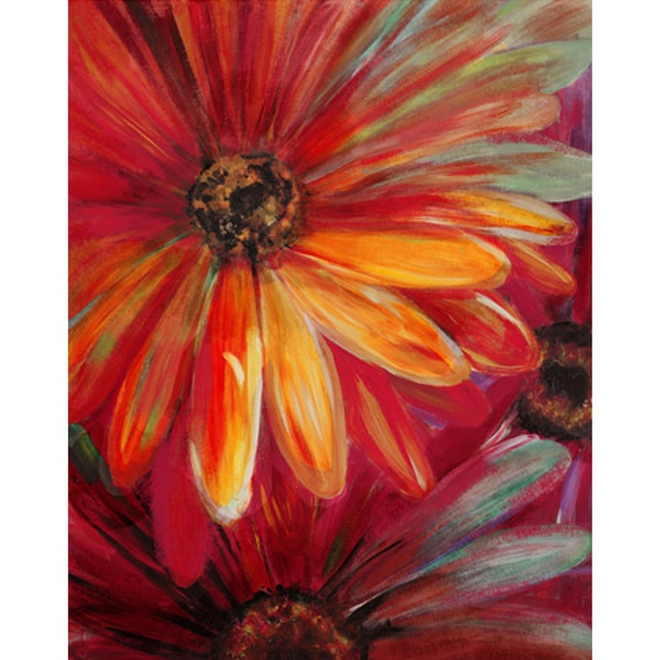 "Floral Lilian Hand-embellished Canvas Giclee 24"" x 36"""