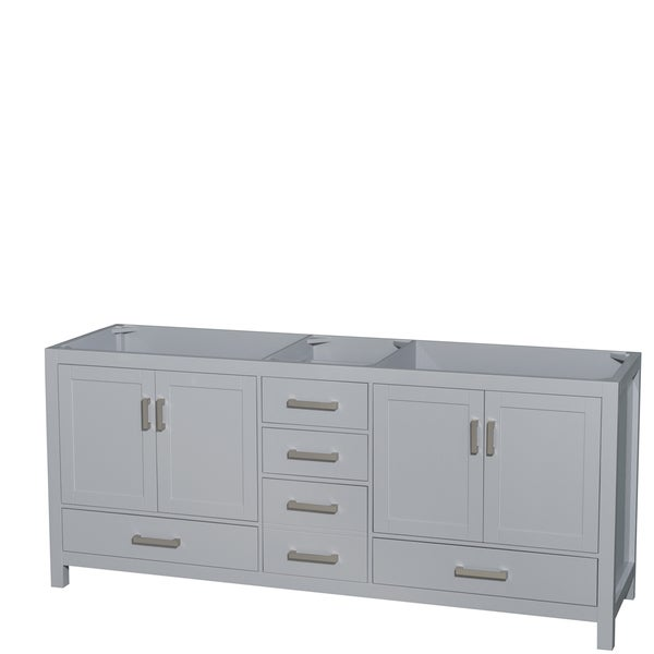 Wyndham Collection Sheffield 80-inch Gray Double Vanity