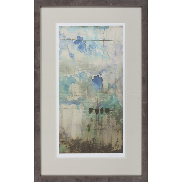"Abstract Emilio Rectangular Framed Giclee on Paper 27"" x 43"""