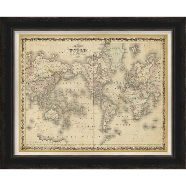 "Map Isabel Rectangular Framed Print 34"" x 28"""