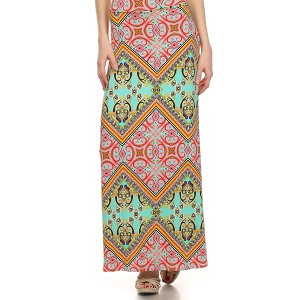 Women's Plus Size Aztec Print Maxi Skirt