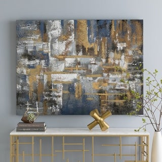 "Abstract Lionel Hand-embellished Canvas Giclee 36"" x 48"""
