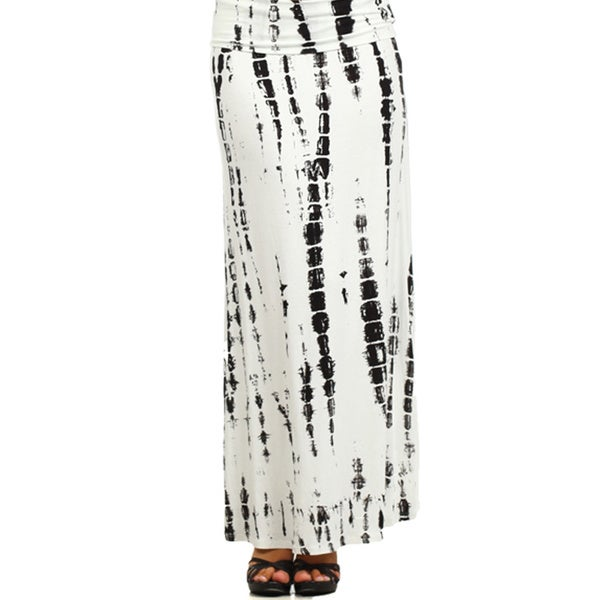 Women's Plus Tie-dye Maxi High Waist Skirt