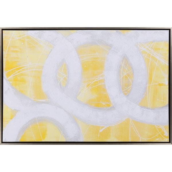 "Abstract Quaich Rectangular Framed Canvas Print 37"" x 25"""