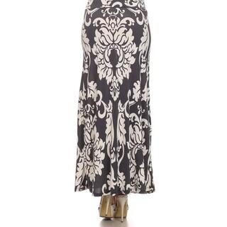 Women's Plus Grey High Waist Maxi Skirt