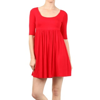 MOA Collection Women's Plus Baby Doll Dress