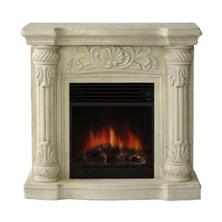Coronado Polystone Electric Fireplace with Mantle
