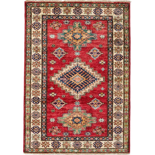 South West Hand Knotted Area Rug - 3x5 Red, Orange