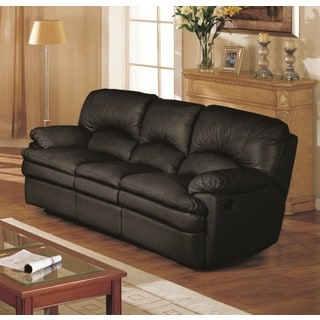 LYKE Home Hainey Black Recliner Sofa