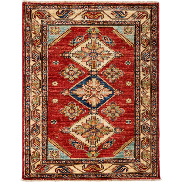 South West Hand Knotted Area Rug - 3x5 Red