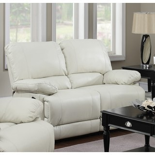 LYKE Home Daryl Cream Motion Loveseat