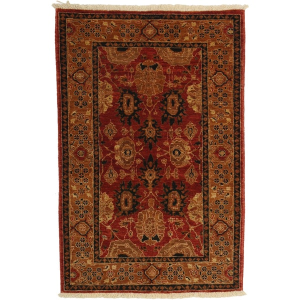 Blake Hand Knotted Area Rug - 3x5 Red