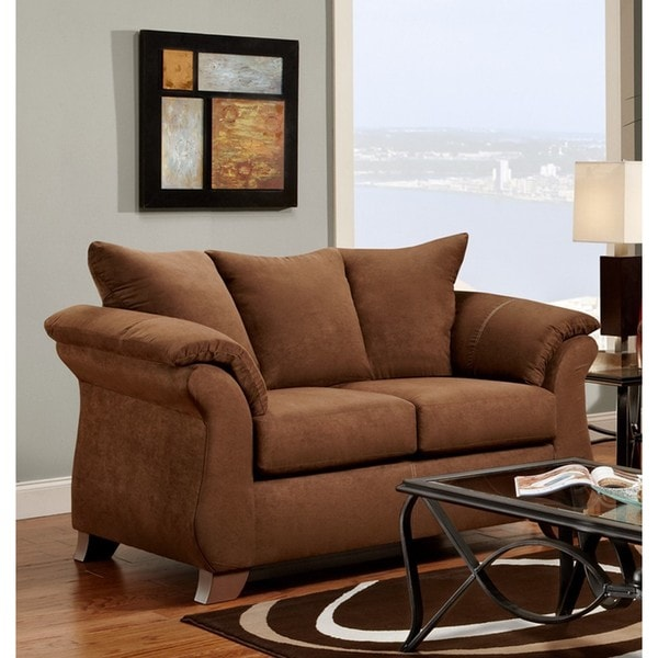 LYKE Home Howie Microfiber Brown Love