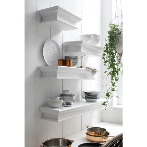 NovaSolo Mahogany Floating Wall Shelf, Extra Long
