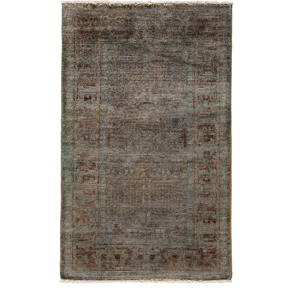 Ziegler Hand Knotted Area Rug - 3x5 Grey