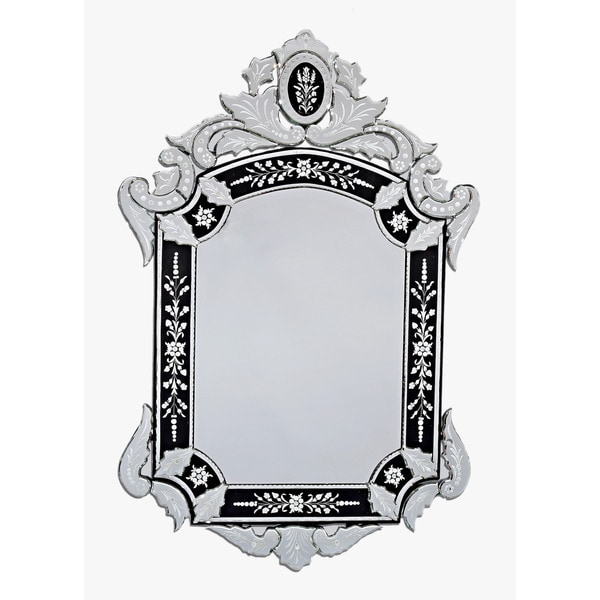 ABC Accents Karyl Black Venetian Wall Mirror