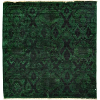 Ziegler Hand Knotted Area Rug - 4x6 Green