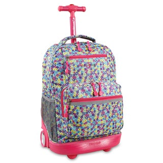J World Foret Sunset Rolling Laptop Backpack
