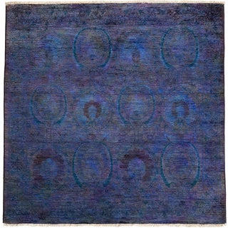 Ziegler Hand Knotted Area Rug - 4x6 Purple
