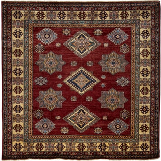 South West Hand Knotted Area Rug - 4x6 Red