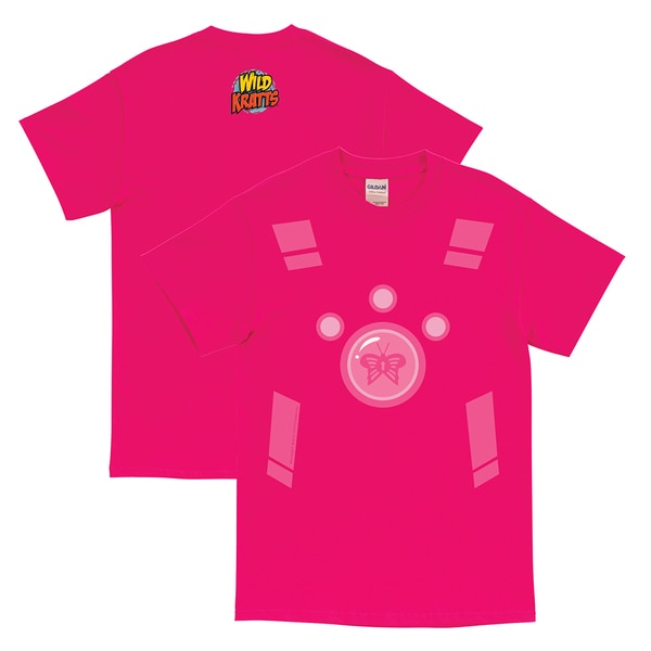 Wild Kratts Creature Power Suit Hot Pink Adult T-Shirt