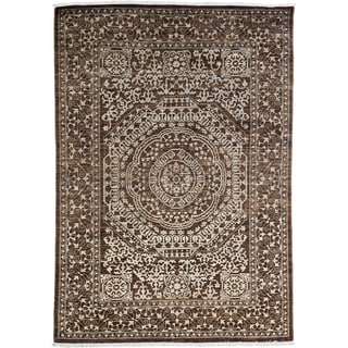 Ziegler Hand Knotted Area Rug - 4x6 Brown
