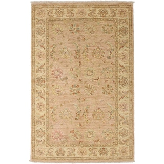 Oushak Hand Knotted Area Rug - 4x6 Beige