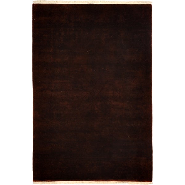 Vibrance Hand Knotted Area Rug  - 4x6 Brown 16346054