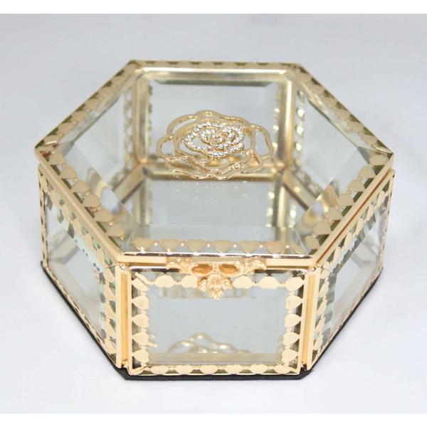 Elegance Glitzy Rose Jewelry Box