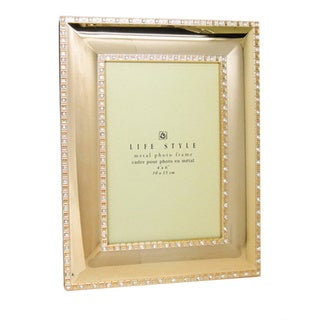 Elegance Gold Plated with Sparkling Crystal 4x6-inch Frame