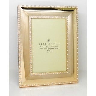 Elegance Gold Plated with Sparkling Crystal 5x7-inch Frame
