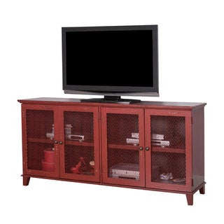 Sallis 72-inch Chinese Lunar Red Finish Wooden TV Stand