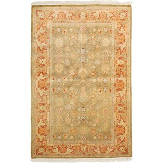 Royal Hand Knotted Area Rug - 4x6 Red