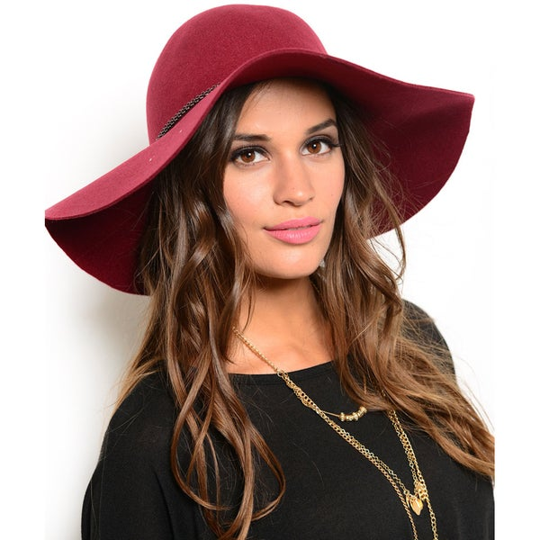 Shop the Trends Women's Boho Chic Wide Brim Wool Floppy Hat