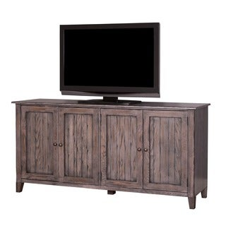 Hadlock 72-inch Weathered Greige Finish Wooden TV Stand