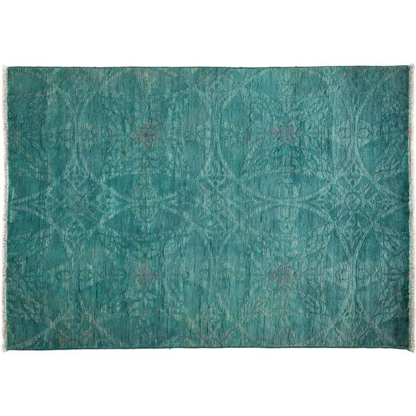 Vibrance Hand Knotted Area Rug  - 4x6 Blue 16346155