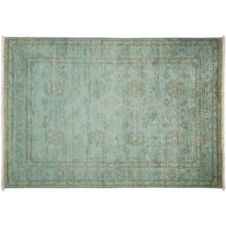Vibrance Hand Knotted Area Rug - 4x6 Blue