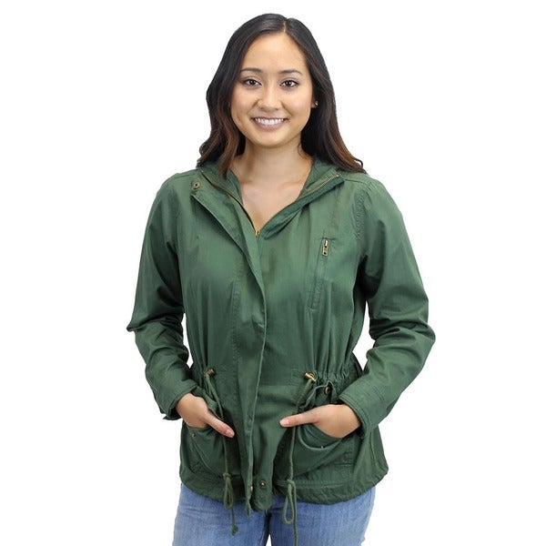 Women's Marin County Green Hooded Utility Jacket