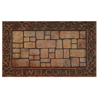 30-inch Raised Rubber Paver Scroll Mat