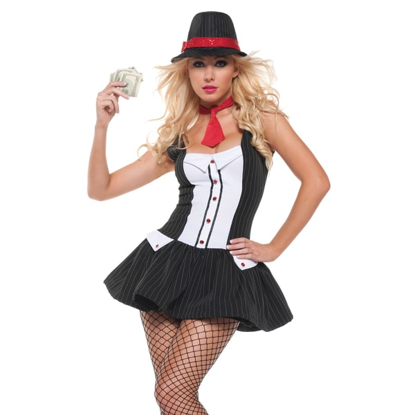 Mystery House Women's Gangster Costume