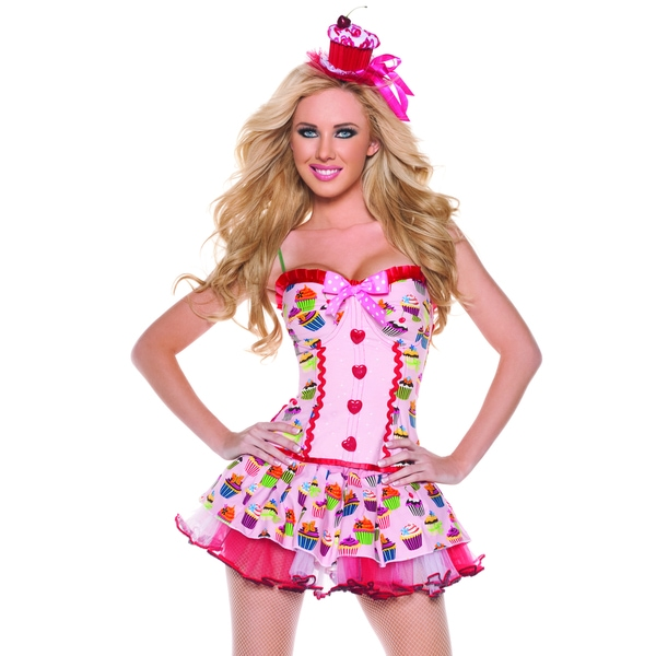 Mystery House Pink Cupcake Girl Costume