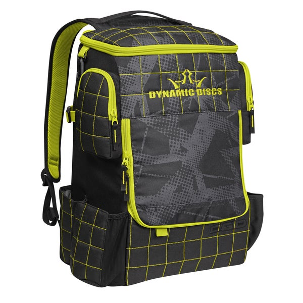 Dynamic Discs Ranger Backpack Fracture Chartreuse Disc Golf Bag