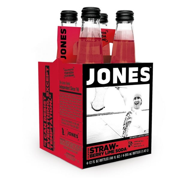 Jones Soda Strawberry Lime Pure Cane Soda (12 Pack)