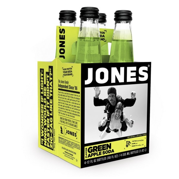Jones Green Apple Jones Pure Cane Soda (12 Pack)